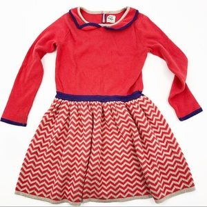 Mini Boden strawberry Sparkle knit Dress girls 5-6